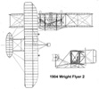 Drawing of the Wright Flyer 2.