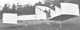 Santos-Dumont flew the 14-bis nearly 197 feet.