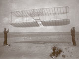 Wright Flyer in the sky